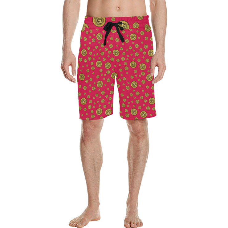 Gummi Mens Red Shorts
