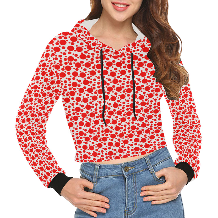 Speckle Dot Cropped Hoodies