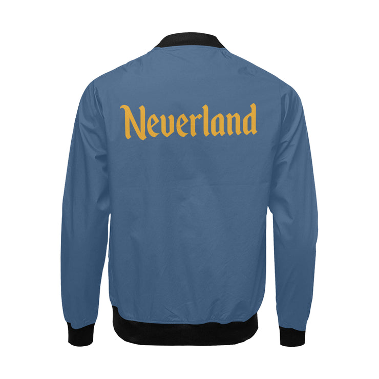 Neverland Mens Blue Bomber Jacket