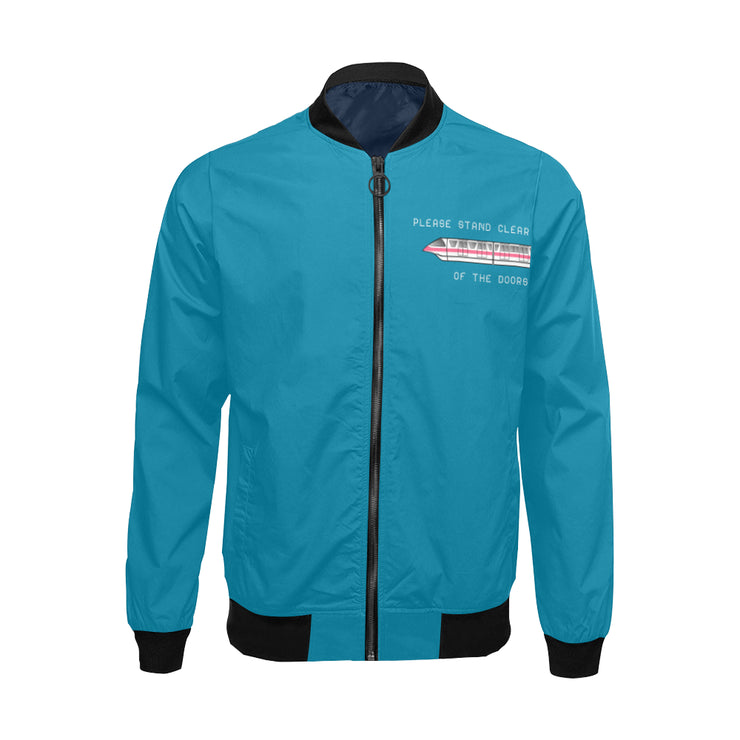 Monorail Mens Blue Bomber Jacket