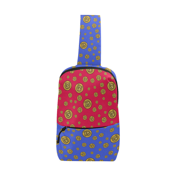 Gummi Blue & Red Chest Bag
