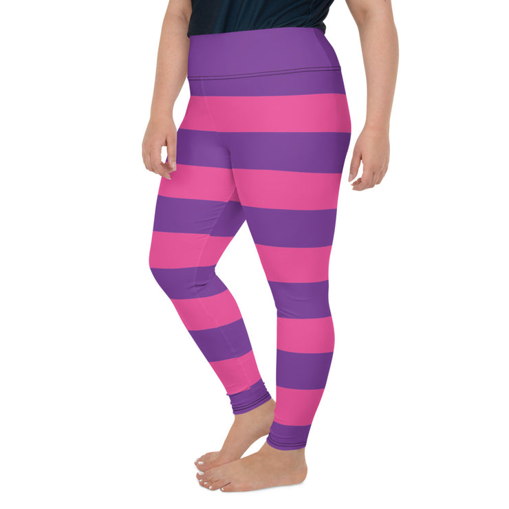 Cheshire Stripe Plus Size Leggings