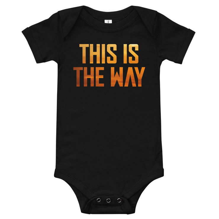 This Is The Way Infant Black Bodysuit