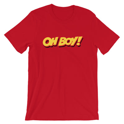 Oh Boy! Signature Mens Red T-Shirt
