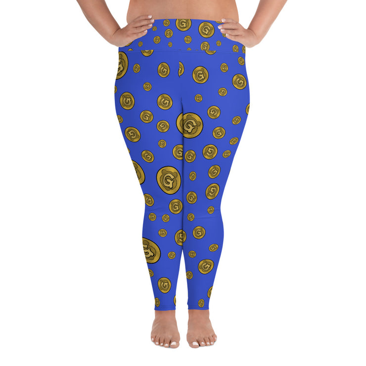 Gummi Blue Plus Size Leggings
