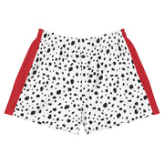 Dalmatian Short Shorts with Red Trim