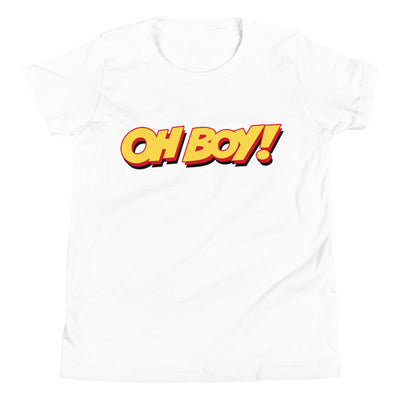 Oh Boy! Signature Youth White T-Shirt