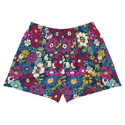 London Floral Womens Athletic Short Shorts