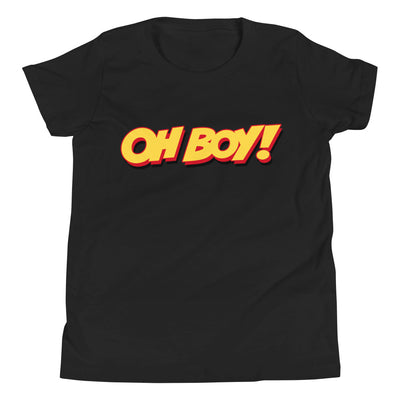 Oh Boy! Signature Youth Black T-Shirt
