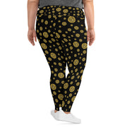 Gummi Black Plus Size Leggings