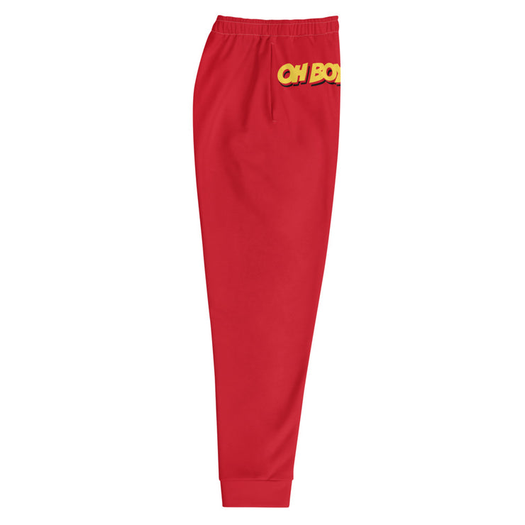 Oh Boy! Signature Mens Red Joggers