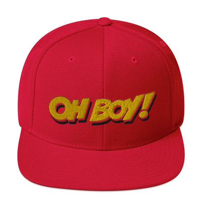 Oh Boy! Signature Red Snapback Hat