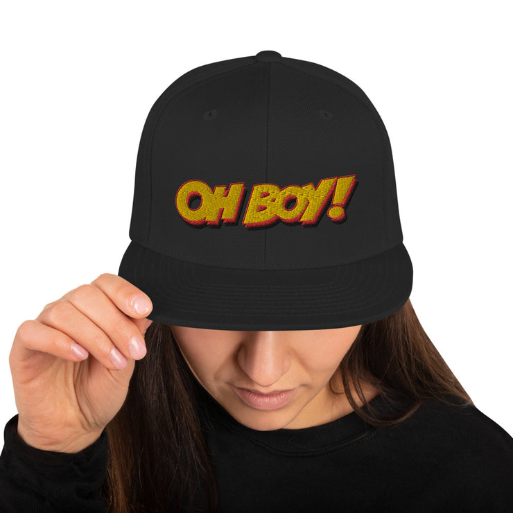 Oh Boy! Signature Black Snapback Hat