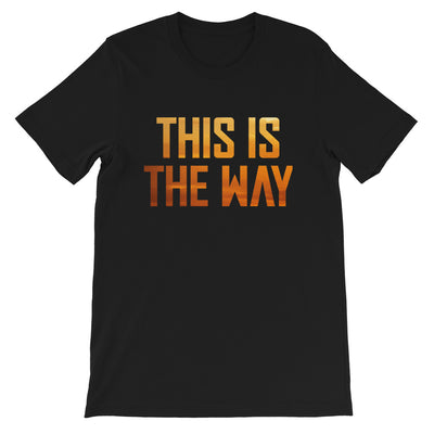 This Is The Way Mens Black T-Shirt