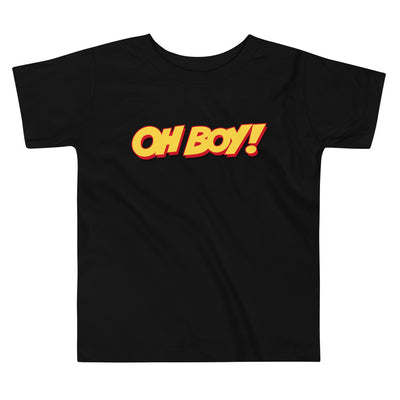 Oh Boy! Signature Toddler Black T-Shirt