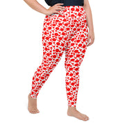 Speckle Dots Plus Size Leggings