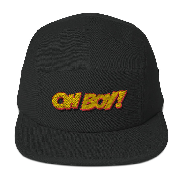 Oh Boy! Signature Black Camper Cap