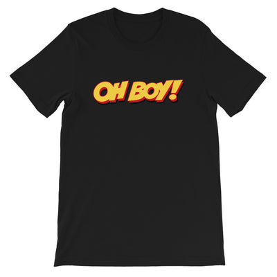Oh Boy! Signature Unisex Black T-Shirt
