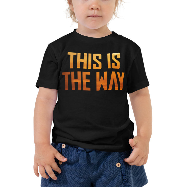 This Is The Way Toddler Black T-Shirt