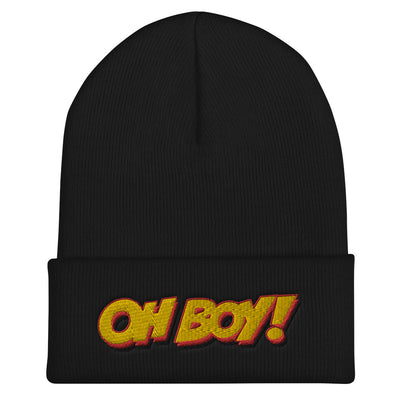 Oh Boy! Signature Black Cuffed Beanie