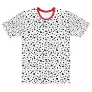 Dalmatian T-Shirt with Red Trim