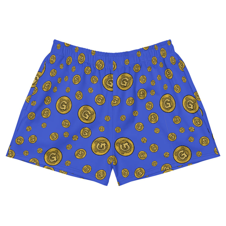 Gummi Blue Womens Athletic Short Shorts