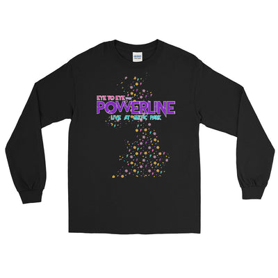 Powerline Mens Black Long Sleeve T-Shirt