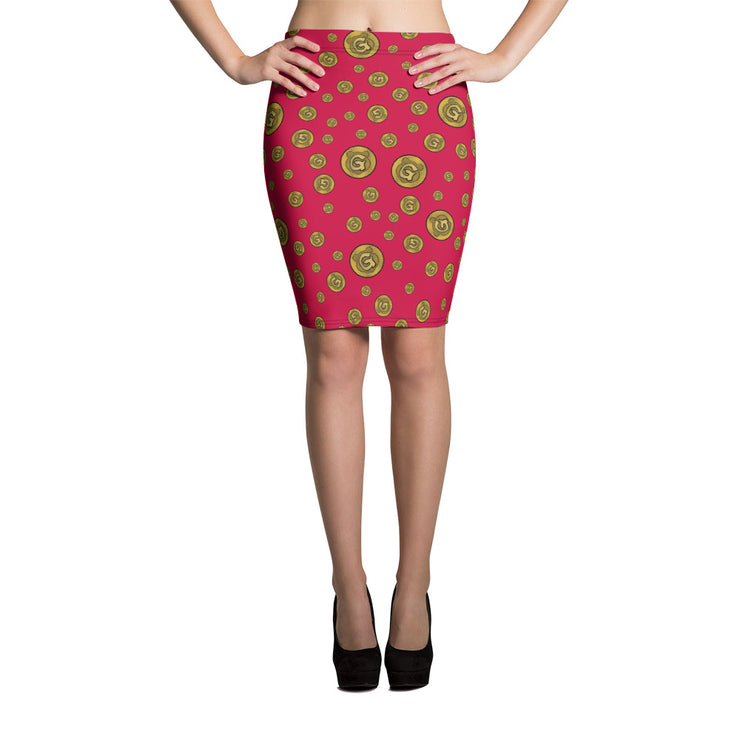 Gummi Red Pencil Skirt