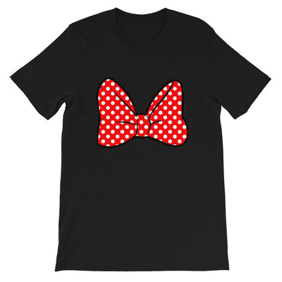 Bow Unisex Black T-Shirt
