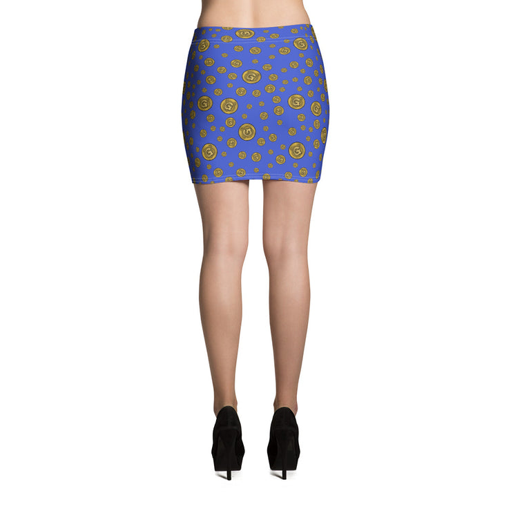 Gummi Blue Mini Skirt