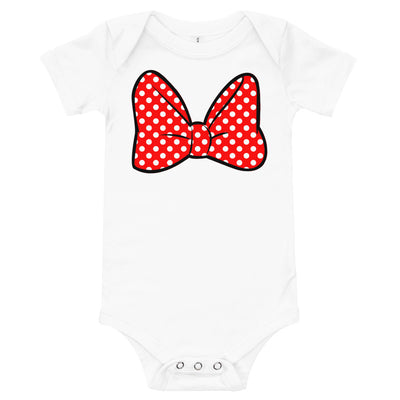 Bow Infant White Bodysuit