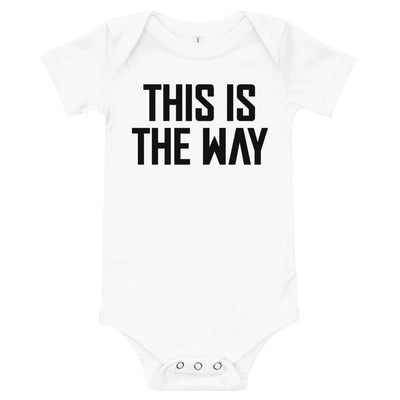 This Is The Way Infant White & Black Bodysuit