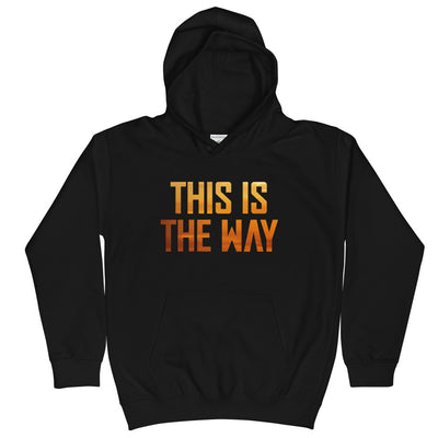 This Is The Way Youth Black Hoodie