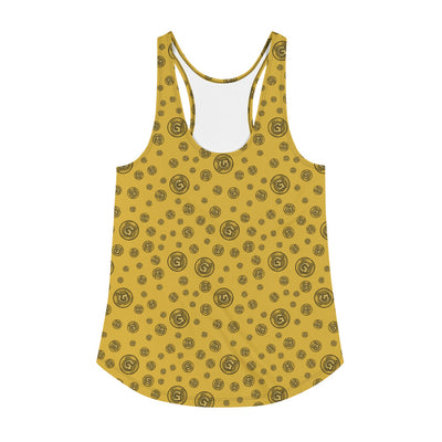 Gummi Womens Gold Racerback Tank Top