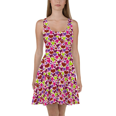 Queen of Hearts Sleeveless Skater Dress
