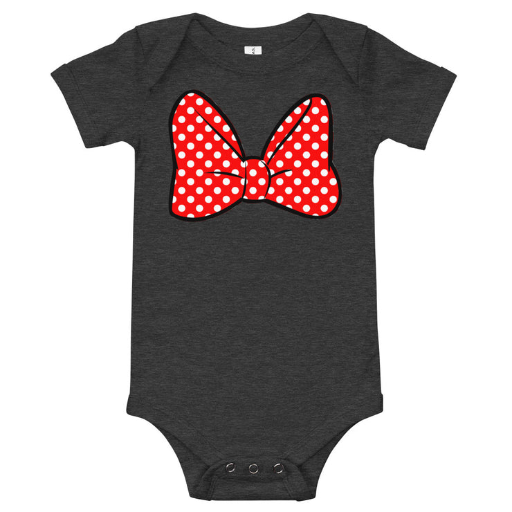 Bow Infant Black Bodysuit