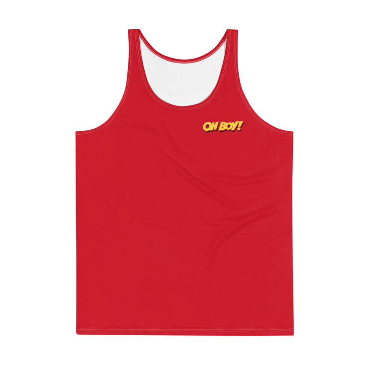 Oh Boy! Signature Mens Red Tank Top
