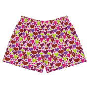 Queen of Hearts Womens Athletic Short Shorts