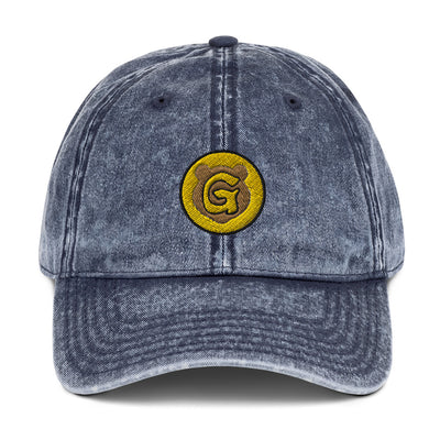 Gummi Blue Distressed Dad Cap