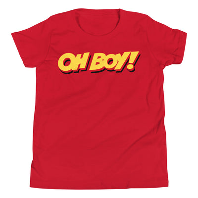 Oh Boy! Signature Youth Red T-Shirt