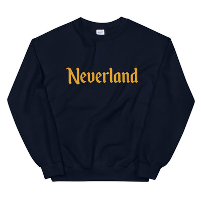 Neverland Unisex Navy Sweatshirt