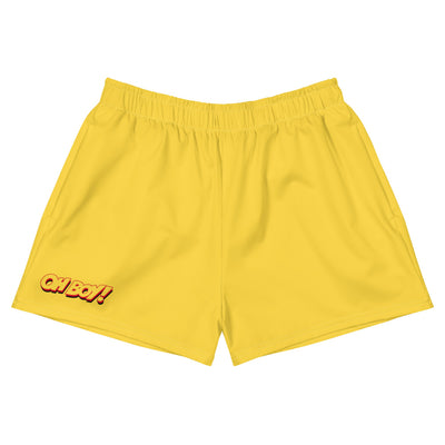 Oh Boy! Signature Yellow Womens Athletic Short Shorts