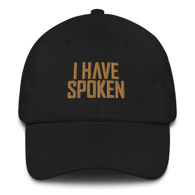 I Have Spoken Black Director Hat