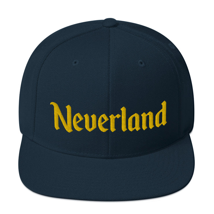 Neverland Navy Snapback Hat