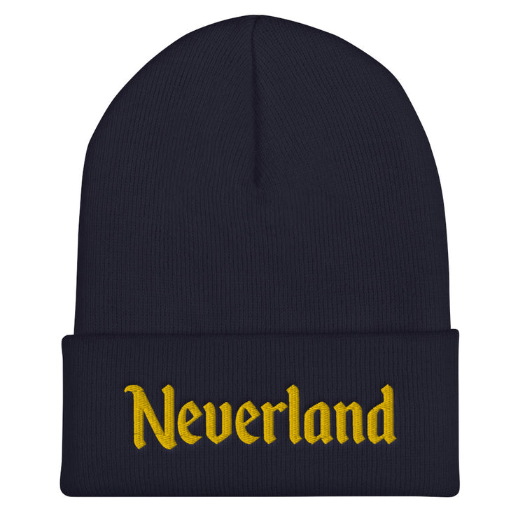 Neverland Cuffed Navy Beanie