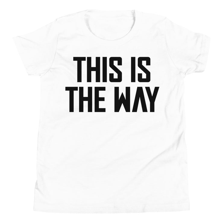 This Is The Way Youth White & Black T-Shirt
