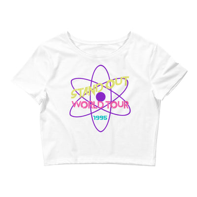 Powerline Womens White Cropped T-Shirt