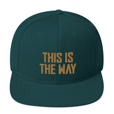 This Is The Way Green Snapback Hat