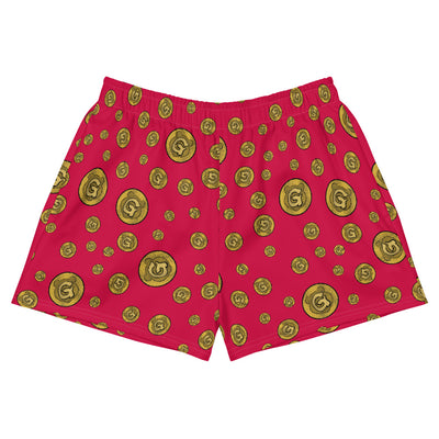 Gummi Red Womens Athletic Short Shorts