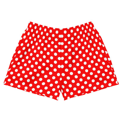 Polka Dot Womens Athletic Short Shorts